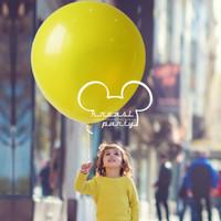 Balon Latex Jumbo 18 inch/ Balon Latex Doff Jumbo Kuning / Balon Giant
