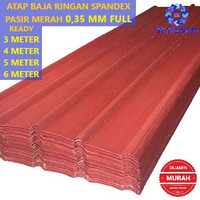 ATAP BAJA RINGAN SPANDEX / SPANDEK/ SPANDECK PASIR MERAH 0,35 MM FULL