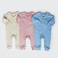 Sleepsuit Bayi / Piyama Anak / - I am Cotton Long Romper Rib Baru - Little boy, 3m