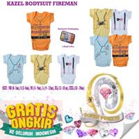 Kazel bodysuit jumper boy fireman edition baju jumper bayi anak cowok - S