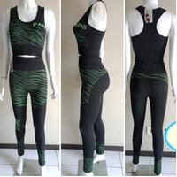 Set senam termurah wanita setelan baju olahraga muat jumbo tebal