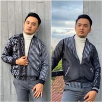 Jaket Pria Dewasa FREE MASKER Jaket Batik Bolak Balik 2 in 1 Real Pict