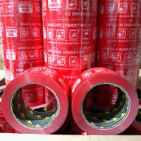 LAKBAN FRAGILE MERAH 48MM×100MTR FULL JANGAN DI BANTING! BEST QUALITY
