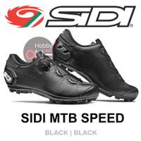 SIDI SPEED BLACK BLACK - Sepatu Cleat MTB