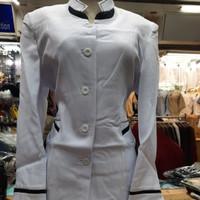 Atasan Baju Blazer Putih Cantik Murah Wanita, Modis Guru, Pegawai
