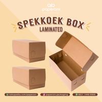 Kotak/Dus Kue Lapis/Bolu bahan Kertas/ECO Kraft Spekkoek Box LAMINATED