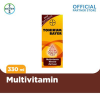 Tonikum Bayer Multivitamin, Mineral & Zat Besi Rasa Tutti Frutti 330ml