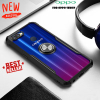 Case OPPO A12 A5S A7 Ring Transparan CLEAR JAZZ SERIES Casing Bumper
