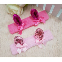 HB12-Bandana kuping pita manik baby balita anak bando headband GIRL