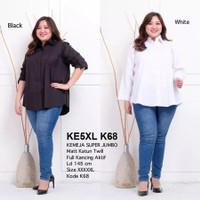 Kemeja Jumbo 5XL Baju Atasan Wanita Big Size Super Jumbo