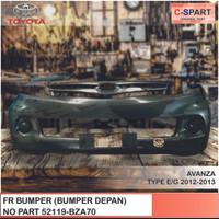 BUMPER DEPAN TOYOTA ALLNEW AVANZA TYPE E/G 2013 [52119-BZA70]