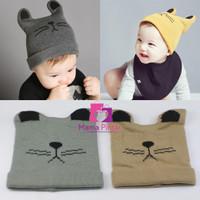 Topi Kupluk Rajut Bayi Newborn Lucu & Imut Laki-Laki Perempuan