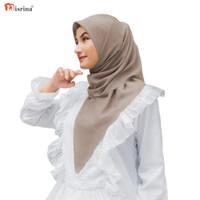 Nisrina Fashion Muslim Kerudung Segiempat Voal Premium Lasercut Damia