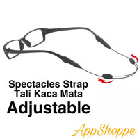 Tali Kacamata Spectacles Sports Strap Adjustable Stretch Silicone Grip