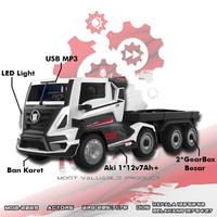 Mainan anak mobil aki actors truk MOB 2029 Ban Karet