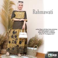 fillea Rahmawati setelan batik solo blouse+rok baju kerja wanita murah