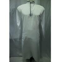 Baju Koko Gamis Jubah Muslim Dewasa Pria Lengan Panjang Putih Terbaru - Putih, M