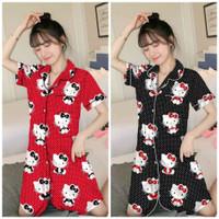 baju tidur piyama daster dewasa motif hello kitty
