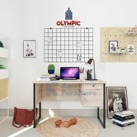 Meja Kerja kaki besi/Meja Kantor seri MTS TITAN Merk Olympic