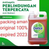 detol antiseptic 5 liter ready langsung kirim