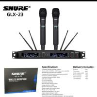 Mic Wireless Shure GLX-23 Handheld GLX23 Terbaik 4 antena Professional