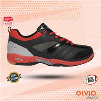 Ardiles APPERGIO Hitam/Merah - Sepatu Badminton Ardiles Original