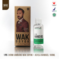 Paket Wak Doyok Cream 75ml + ASYLA Hand Gel 100ml
