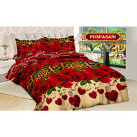Bedcover Bonita Only Saja King 200x200 Motif Puspa Sari Mawar