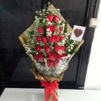 Hand bouquet hadiah anniversary bunga mawar asli bucket florist