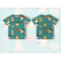 301KIDS Kaos Baju T-Shirt Anak Motif Kucing Cute Cat Premium - BOI025-1, S
