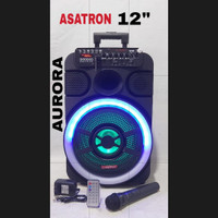 Speaker Aktif Bluetooth Karaoke Portable Asatron 12inch Asatron Aurora