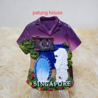 Magnet Kulkas Souvenir Singapore Singapura Baju