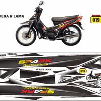 striping/decal/sticker variasi vega r - Hitam
