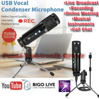 Microphone - Mic Condenser Usb Vocal Recording Podcasting Laptop Pc