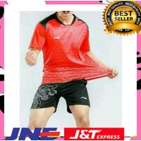 Setelan jersey baju kaos olahraga badminton tenis meja Lining Li-Ning
