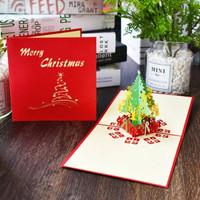 kartu pop up kartu 3d kartu ucapan selamat natal merry christmas