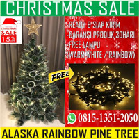Pohon Natal Berkualitas Alaska Rainbow Pine Tree uk 3ft/90cm
