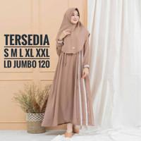 Baju muslim wanita gamis dress salwasyari set khimar size S M L XL XXL