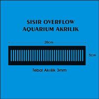 Sisir Aquarium Akuarium Akrilik Hitam Ukuran 20cm x 5cm Tebal 3mm