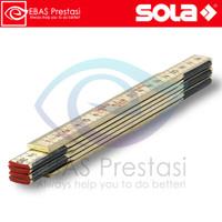 SOLA Wooden Folding Rule H 1/6 - Penggaris Lipat 1 meter