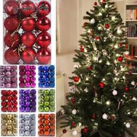 GROSIR Bola Natal isi 12 uk 3 cm 4 cm 6 cm Murah Hiasan Pohon Natal