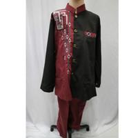 Jual Baju Koko Jakso Jas Koko Anak Laki - laki Muslim Merah Hitam