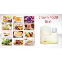 Blender Makanan Bayi Food Processor Crown 5in1 CR 4538