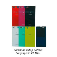 Backdoor Tutup Baterai + Adhesive Sony Xperia Z1 Mini Z1 Compact D5503