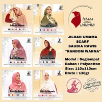 Jilbab SAUDIA RAWIS Umama 110x110 RANDOM WARNA polycotton Terlaris