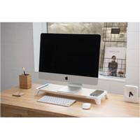 meja dudukan monitor laptop komputer pc desktop carger apple imac