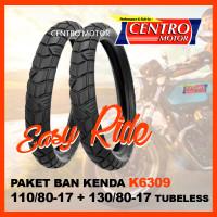 KENDA K6309 PAKET BAN 110/80-17+130/80-17 TUBELESS, BAN SUPERMOTO