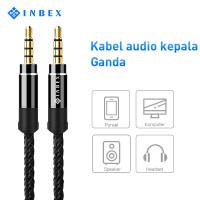 INBEX Audio Splitter 3M/Jack 3.5mm Aux Kabel for Headphones Speakers
