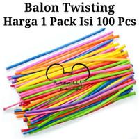 Balon Twist 1 Pack Isi 100 Pcs / Balon Twist Per Pack / Balon Cacing