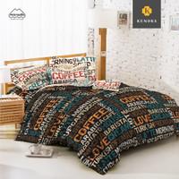 KENDRA Sprei Modern Minimalis - 180x200 King [B2] - Coffee Lover